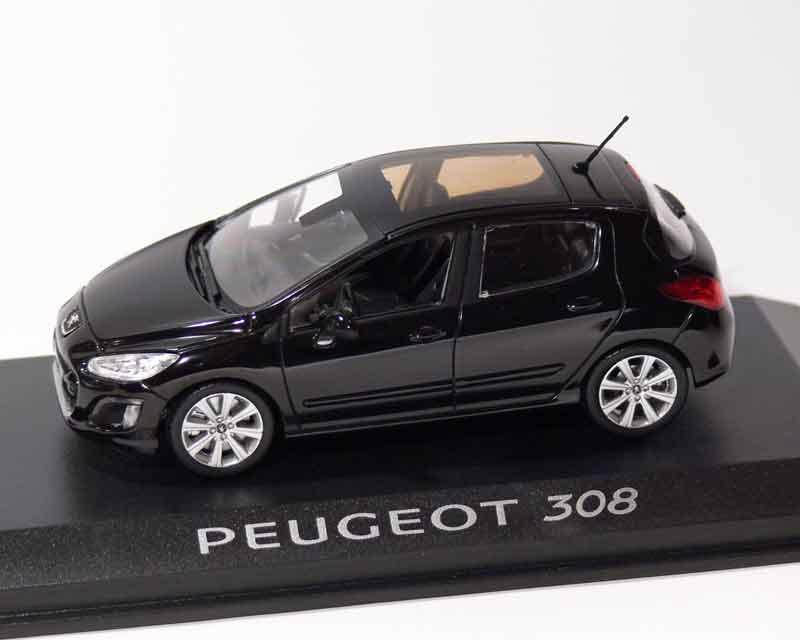 peugeot 1 43 heute peugeot 308 schwarz serie 2 automodelle und modellautos von peugeot. Black Bedroom Furniture Sets. Home Design Ideas